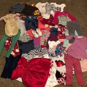 Huge 39 piece 2t girls clothing lot